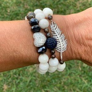 Handmade Beaded & Crystal Bracelet